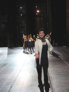 On the Great Stage of Radio City with Rockettes ready for _Sports_