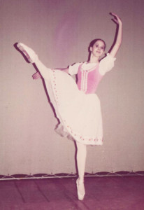 Crista at 16, with the American Ballet Theatre.