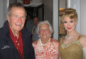 With President and First Lady George and Barbara Bush backstage at The Sound of Music.
