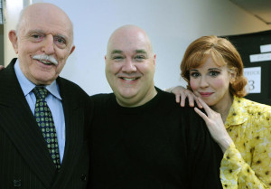 Addams Family. Backstage with John Astin & Blake Hammdon. Photo by Gene Sweeney, Jr. (The Baltimore Sun).