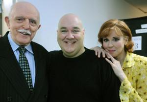 Addams Family. Backstage with John Astin & Blake Hammdon. Photo by Gene Sweeney, Jr. (The Baltimore Sun).
